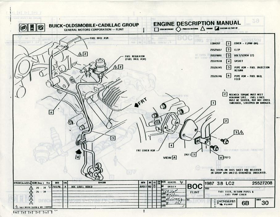 fuel lines turbobuicks com Buick Rainier Engine Diagram buick grand national engine diagram Buick Grand National Crate Engine 1987 Buick Regal Grand National Engine Buick Grand National Fuel System Diagram